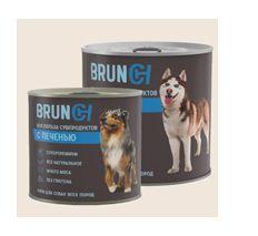Brunch Влажный корм для собак с печенью. 850 г