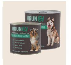 Brunch Влажный корм для собак с потрошками,  850 г