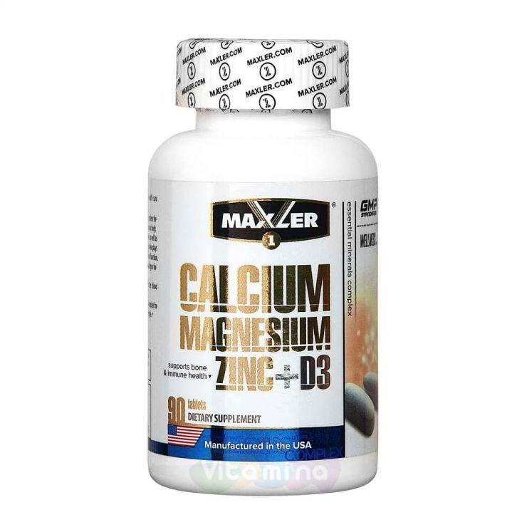 Maxler Calcium Magnesium Zinc + D3, 90 табл