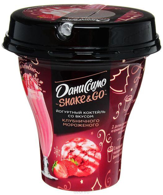 Коктейль Даниссимо Клубника - мороженное