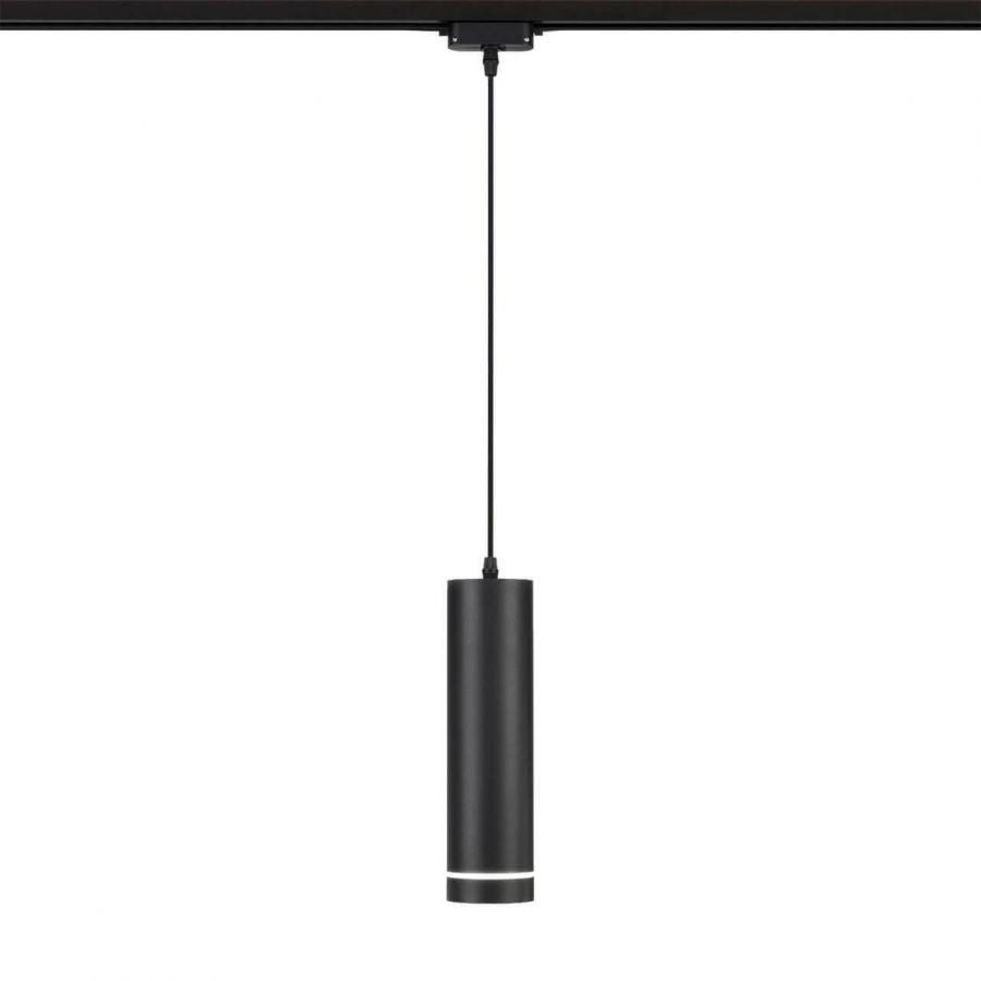 Трековый светодиодный светильник Eurosvet Topper 50163/1 LED черный