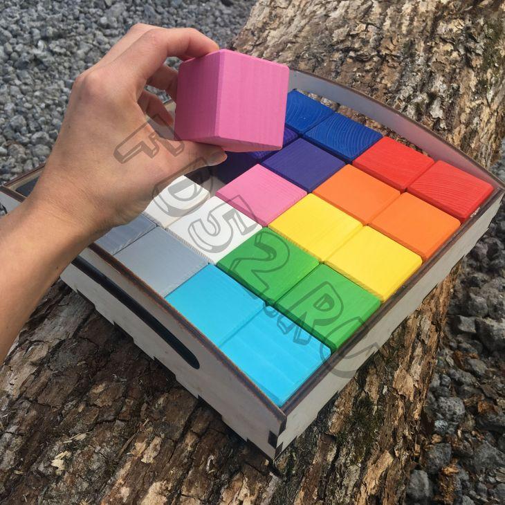 """Набор """"Цветные кубики + карточки"""" БОЛЬШИЕ"""
