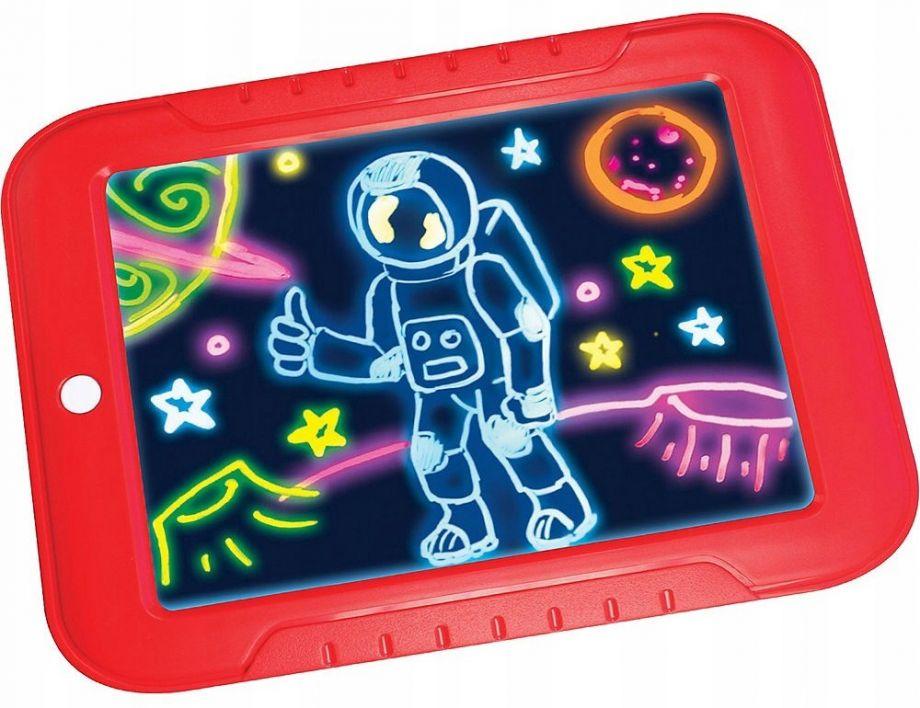 Волшебный планшет для рисования с подсветкой Magic Sketchpad, цвет Красный