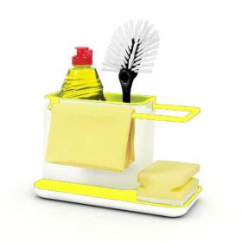 Органайзер для раковины KITCHEN STANDS 3in1 (цвет жёлтый)