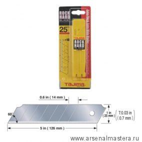 Лезвия TAJIMA LСB-65 25 мм обламывающиеся 10 шт в футляре LCB65C/Y1 LB65B