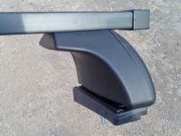 Багажник на крышу Mazda 6 (GH) 2007-13 седан/хэтчбек, Евродеталь, стальные прямоугольные дуги