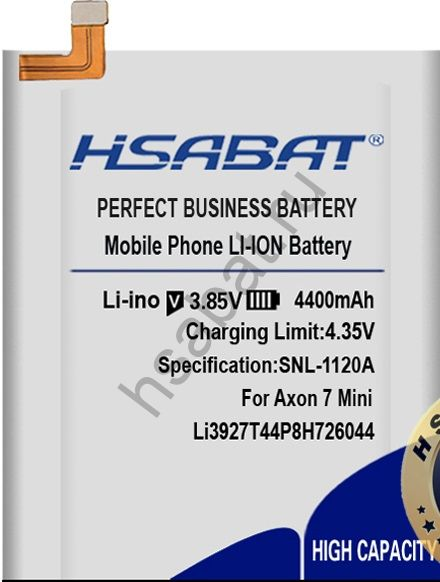 Аккумулятор Li3927T44P8h726044 4400 мАч
