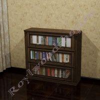 """Книжный шкаф """"Лондон ЛИ орех"""" с патиной"""