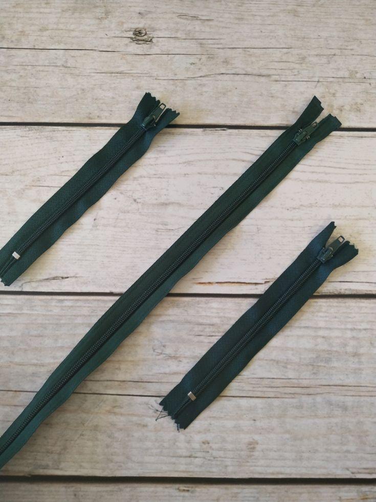 молния спираль длинная 90см темно-зеленая