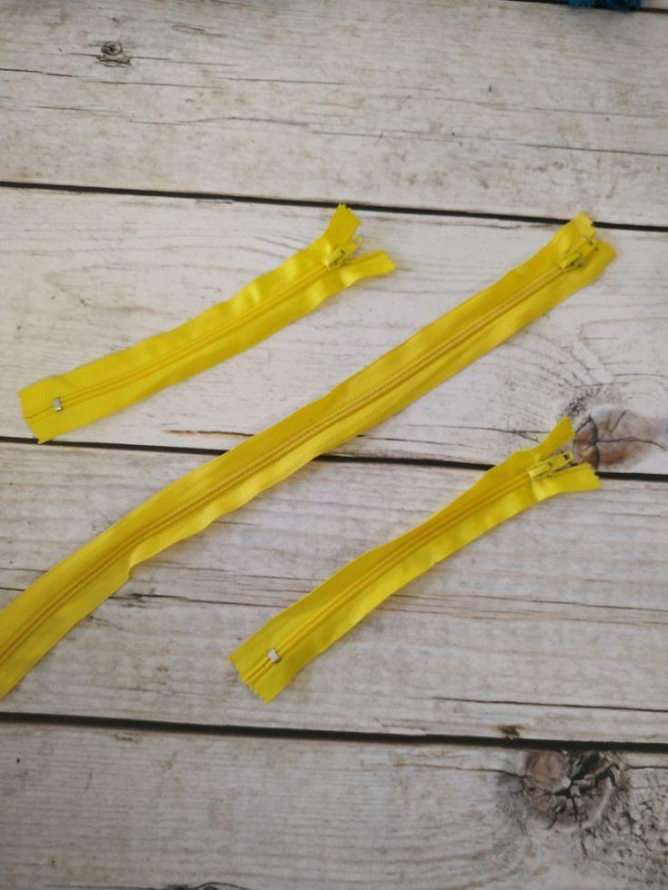 молния спираль короткая 18см лимон