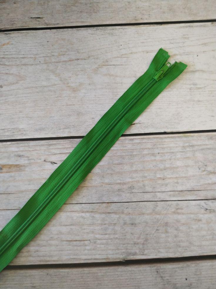 молния спираль длинная 90см зеленая