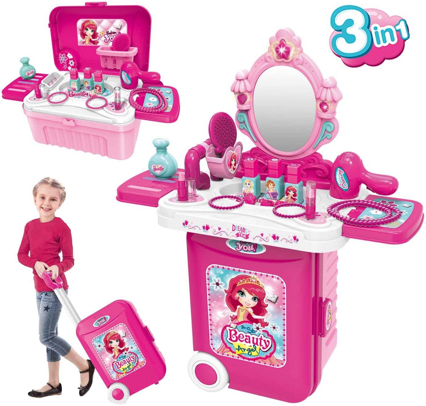 008-953A Туалетный столик трюмо для девочки с набором парикмахера