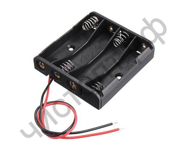 Отсек для элементов питания ET AAA 4S1P-W с проводами (4 х ААА/R03)
