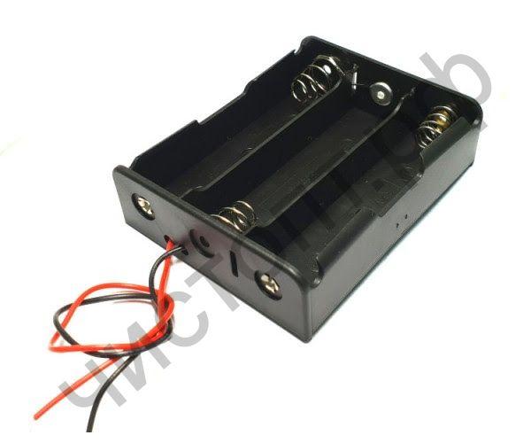 Отсек для элементов питания ET AA 3S1P-W с проводами (3 х АА/R6)