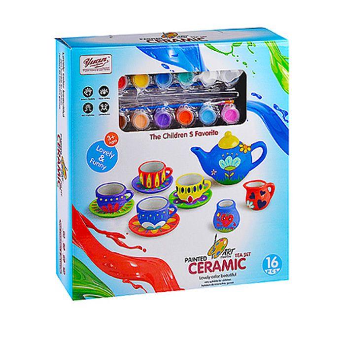 555-DIY002 Детская посуда для раскрашивания из фаянса