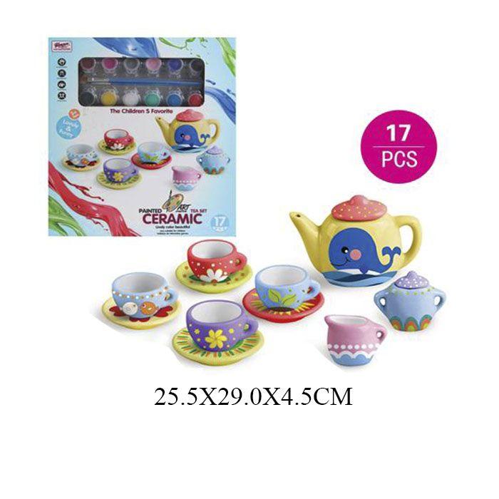 555-DIY004 Детская посуда для раскрашивания из фаянса