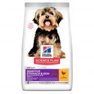 Hill's Canine Adult Small & Miniature Sensitive Stomach & Skin - Для собак миниатюрных пород с чувствительным пищеварением (3 кг)