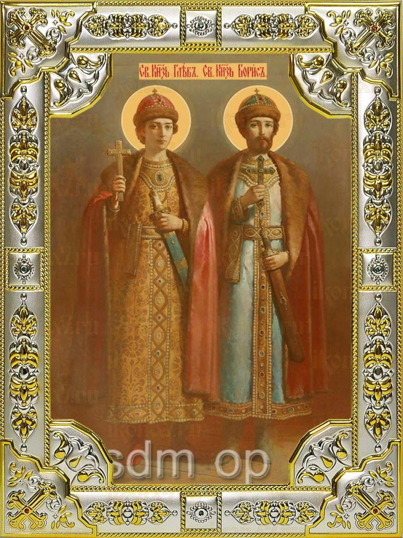 Икона Борис и Глеб благоверные князья (18х24)