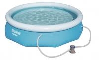 Бассейн надувной круглый Bestway Fast Set (305х76 см) (В комплекте: Фильтр-насос)