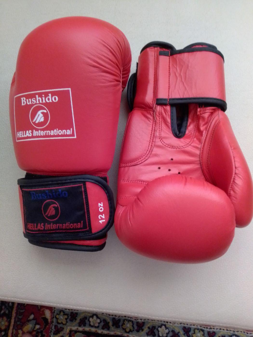 Боксерские перчатки BUSHIDO, красные 12 унц.  WBG 249