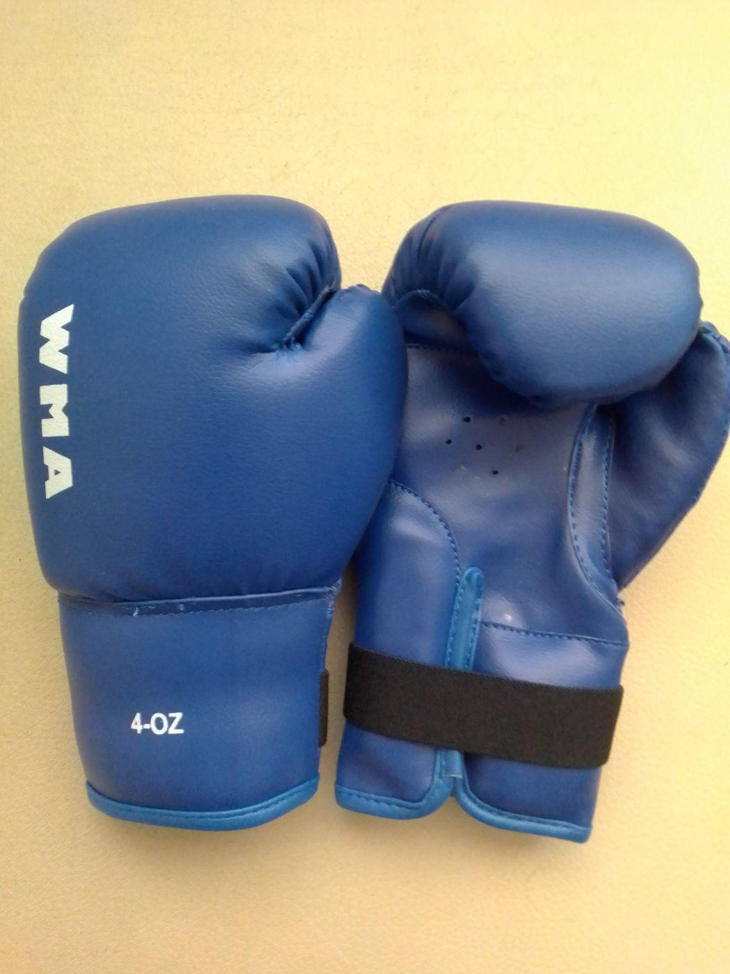 Перчатки боксёрские WMA, синие 4 унц. WBG-290AD