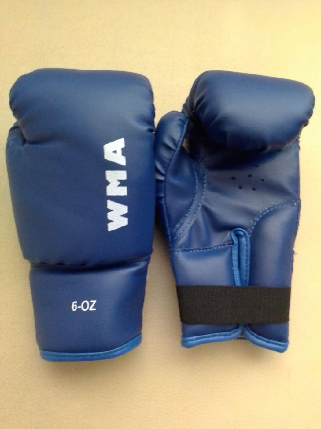 Перчатки боксёрские WMA, синие 6 унц. WBG-290AD