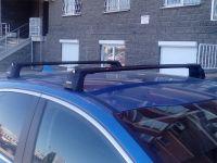 Багажник на крышу Mazda CX-5 (2012-17), Turtle Air 3, аэродинамические дуги в штатные места (черный цвет)