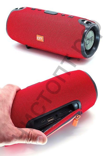 Колонка универс.с радио OT-SPB23 Красный (S6S) (TF, USB, FM, порт аккум)