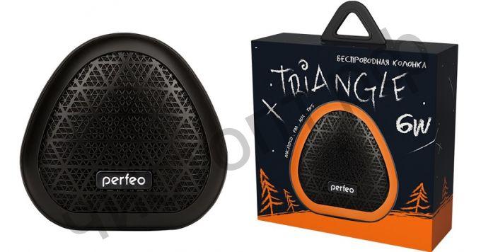"""Колонка универс.с радио Perfeo """"TRIANGLE"""" FM, MP3 microSD, AUX, TWS, 6Вт, 800mAh, черная PF_A4341"""