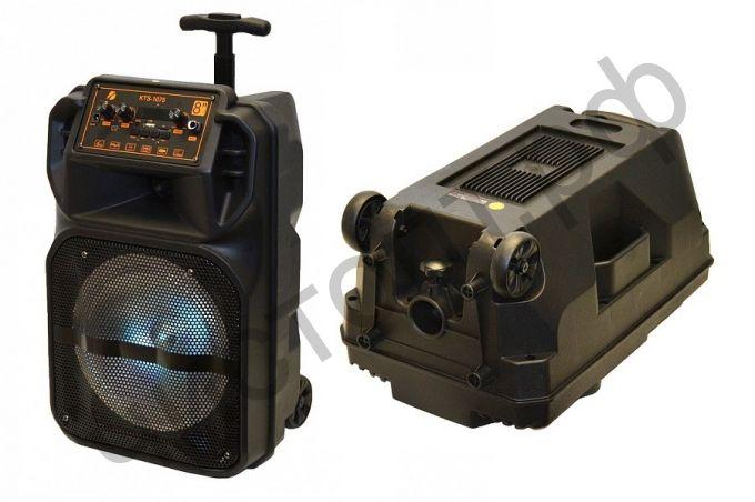 Колонка универс.с радио KTS-1075 (TF, USB, FM, аккум.) 25W напольная + провод. микроф.