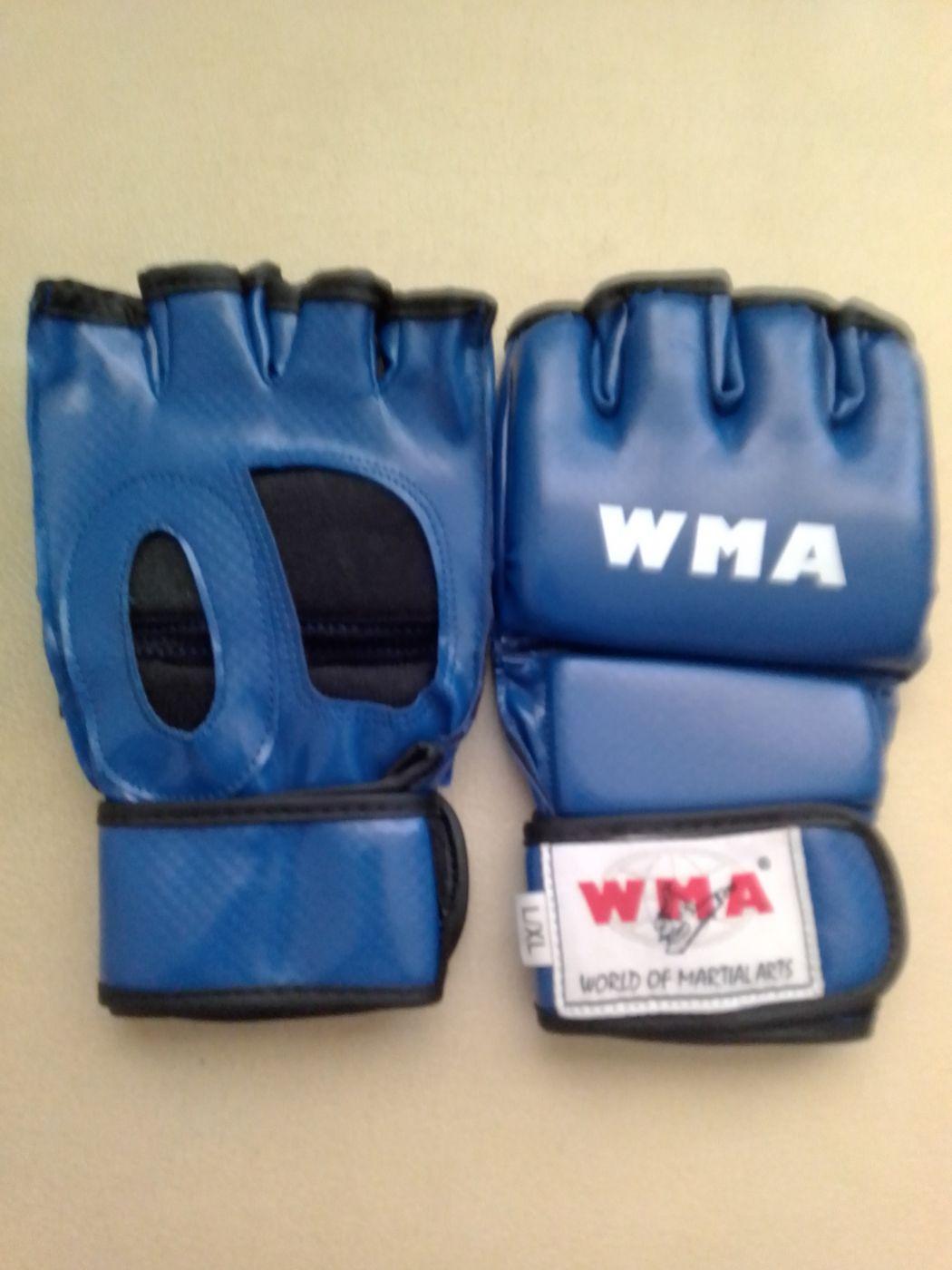 Перчатки для смешенных единоборств, синие, иск. кожа, размер L/XL, UFCM-TT