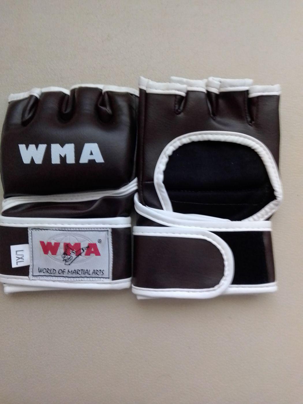 Перчатки для смешенных единоборств, коричневые, иск. кожа, размер L/XL, UFC-15DX