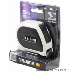 Рулетка TAJIMA SIGMA STOP 5 м / 19 мм с двойным фиксатором SS950MG