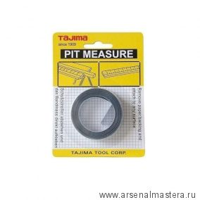 Самоклеящаяся мерная лента (справа налево) TAJIMA Pit Measure 3 м / 13 мм PIT30R