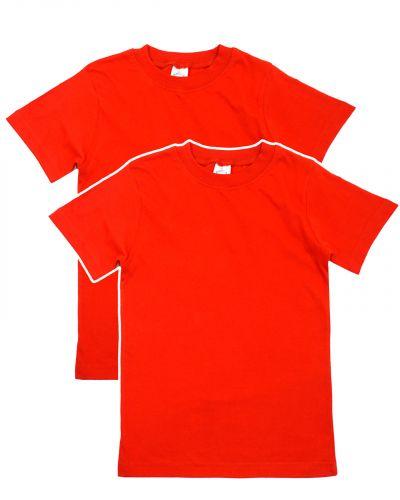 Однотонная Футболка для детей 8-12 лет Bonito BK166F красная