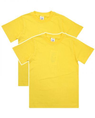 Однотонная Футболка для детей 8-12 лет Bonito BK166F желтая