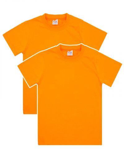 Однотонная Футболка для детей 8-12 лет Bonito BK166F оранжевая