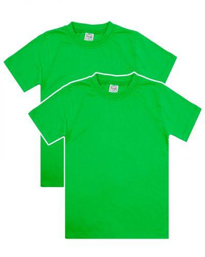 Однотонная Футболка для детей 8-12 лет Bonito BK166F зеленая