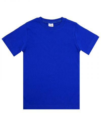 Однотонная Футболка для детей 4-8 лет Bonito BK165F синяя
