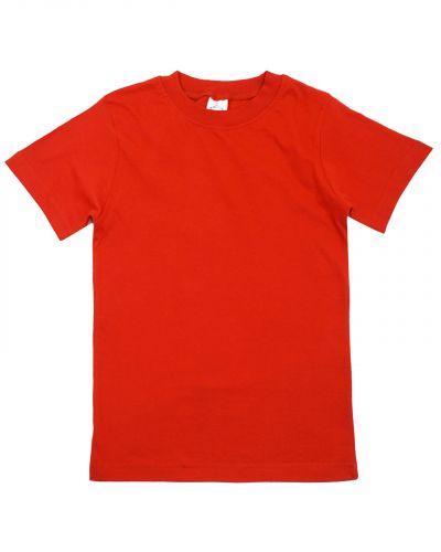 Однотонная Футболка для детей 4-8 лет Bonito BK165F красная