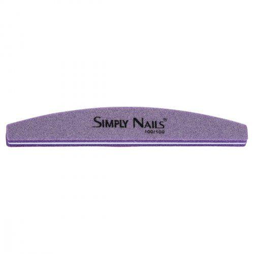 Полировка-шлифовка фиолетовая, полукруглая, 100/100 грит    SOFIPROFI