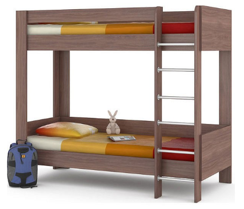 Кровать двухъярусная Ника 438 М