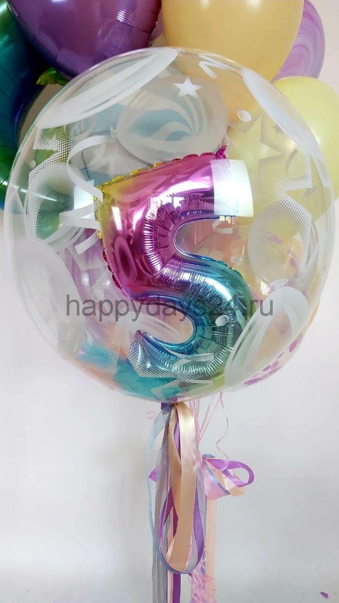 Bubble c радужной цифрой