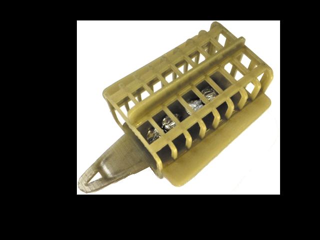 Фидерная кормушка для течения квадратная пластик 70 г