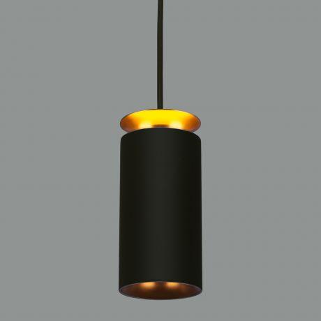 Подвесной светодиодный светильник  DLS021 9+4W 4200К черный матовый/золото