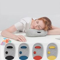 Подушка для сна на работе Napping Pillow, серый с красным