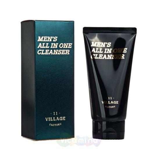 Village 11 Factory Мужская увлажняющая пенка-скраб для умывания и бритья Men's All In One Cleanser, 150 мл
