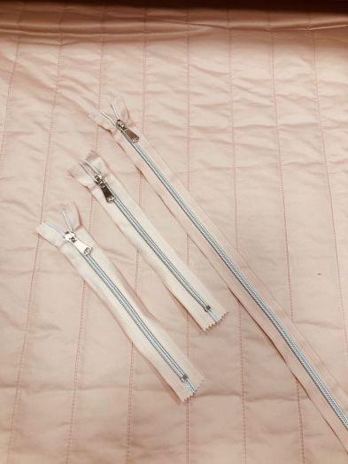 молния спираль декоративная пудра-серебро 18см