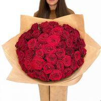 Красные розы 60 см. от 11 шт.