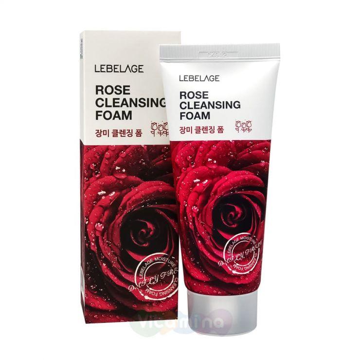 Lebelage Увлажняющая пенка с экстрактом дамасской розы Rose Cleansing Foam, 100 мл